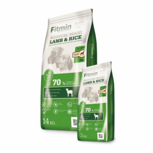 Fitmin dog Medium Maxi Lamb Rice 3 kg
