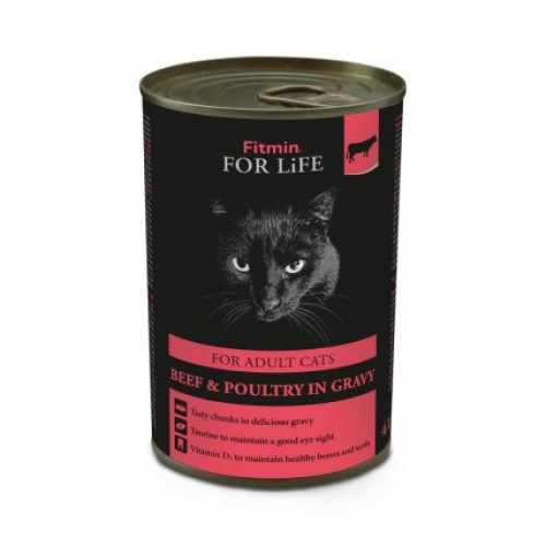 Fitmin For Life cat tin adult beef 415g