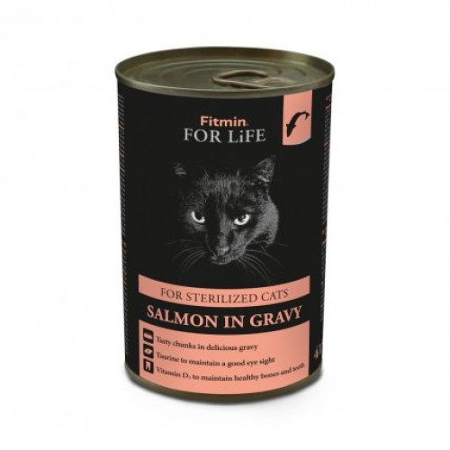 Fitmin For Life cat tin sterilized salmon 415 g