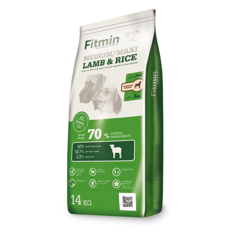 Fitmin dog Medium Maxi Lamb Rice 14 kg