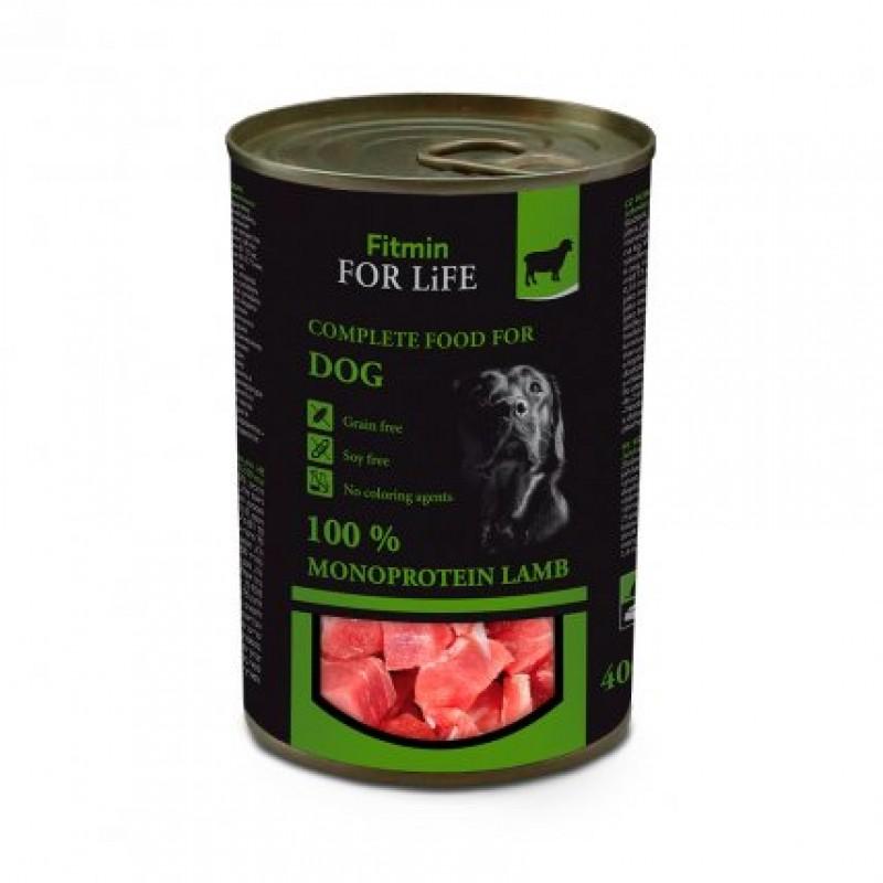 Консервированный ягнёнок для собак 400 г