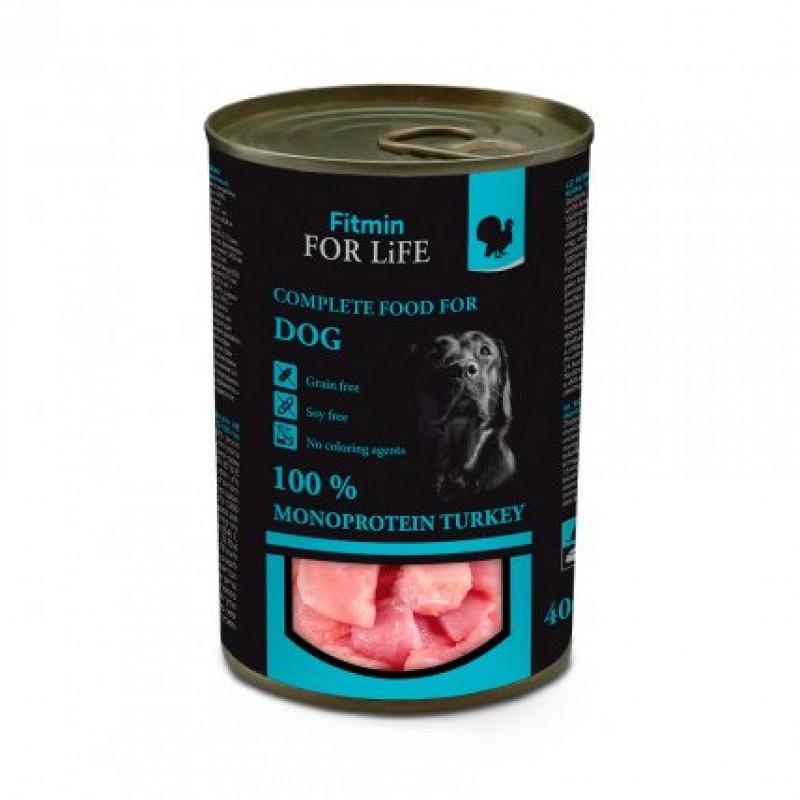 Conserve de curcan pentru caini 400 gr