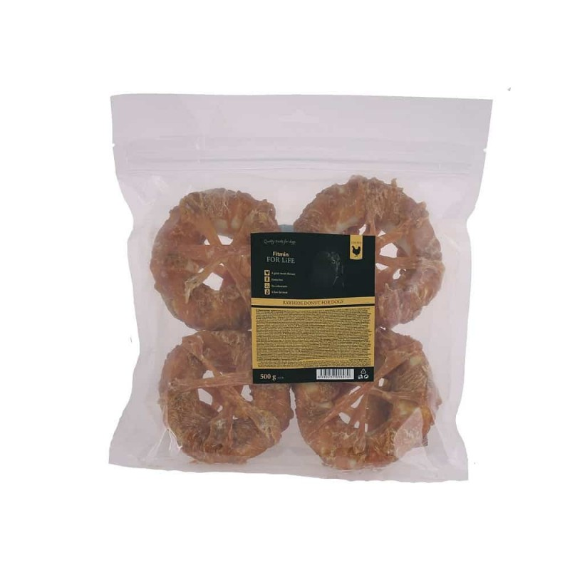 Fitmin For Life dog treat rawhide donut 500g