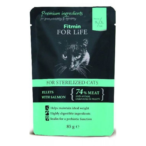 Fitmin For Life Sterilized fillets salmon 85g