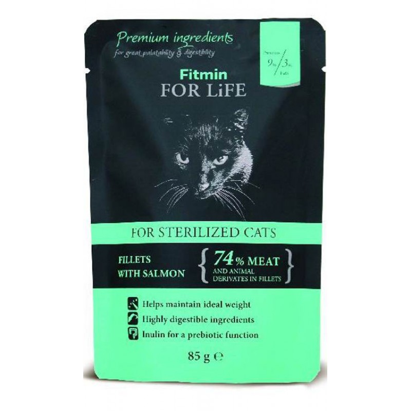 Fitmin For Life Sterilized salmon 85g