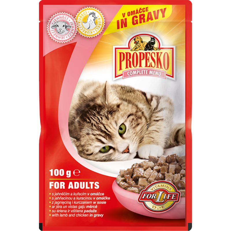 Propesko cat pouch lamb, chicken 100g