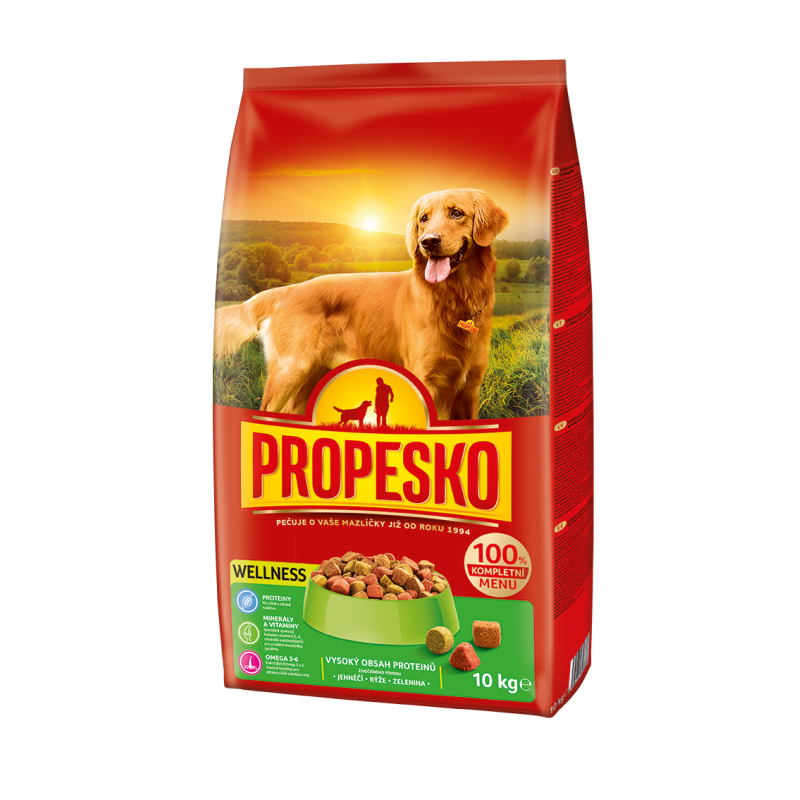 Propesko Dog WELLNESS lamb, rice, vegetables 10kg