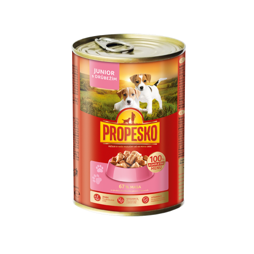 Propesko dog chunks junior 415g