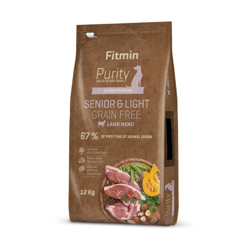 Fitmin dog Purity GF Senior&Light Lamb 12 kg