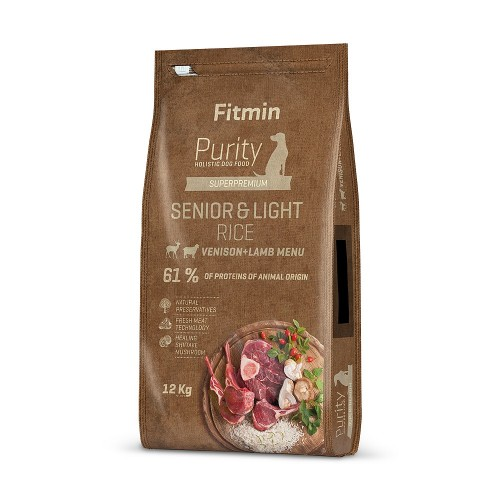 Fitmin dog Purity Rice Senior&Light Venison&Lamb 12 kg